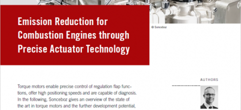 Emission Reduction for Combustion Engines through Precise Actuator Technology